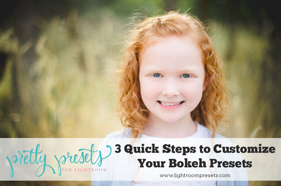 3 Steps to Customize the Bokeh Lightroom Presets | Pretty Presets Lightroom Tutorial