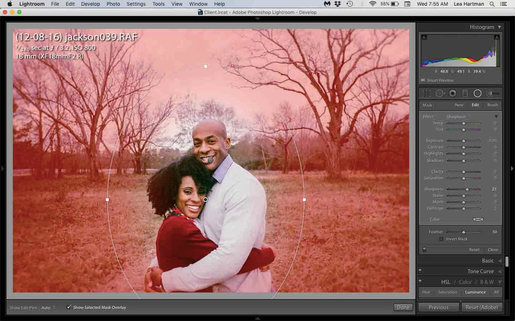 how to blur the background in lightroom