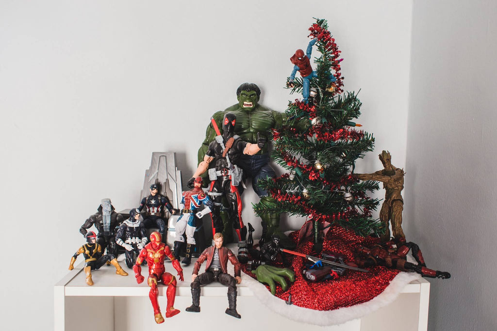 Superhero Christmas Tree Photo