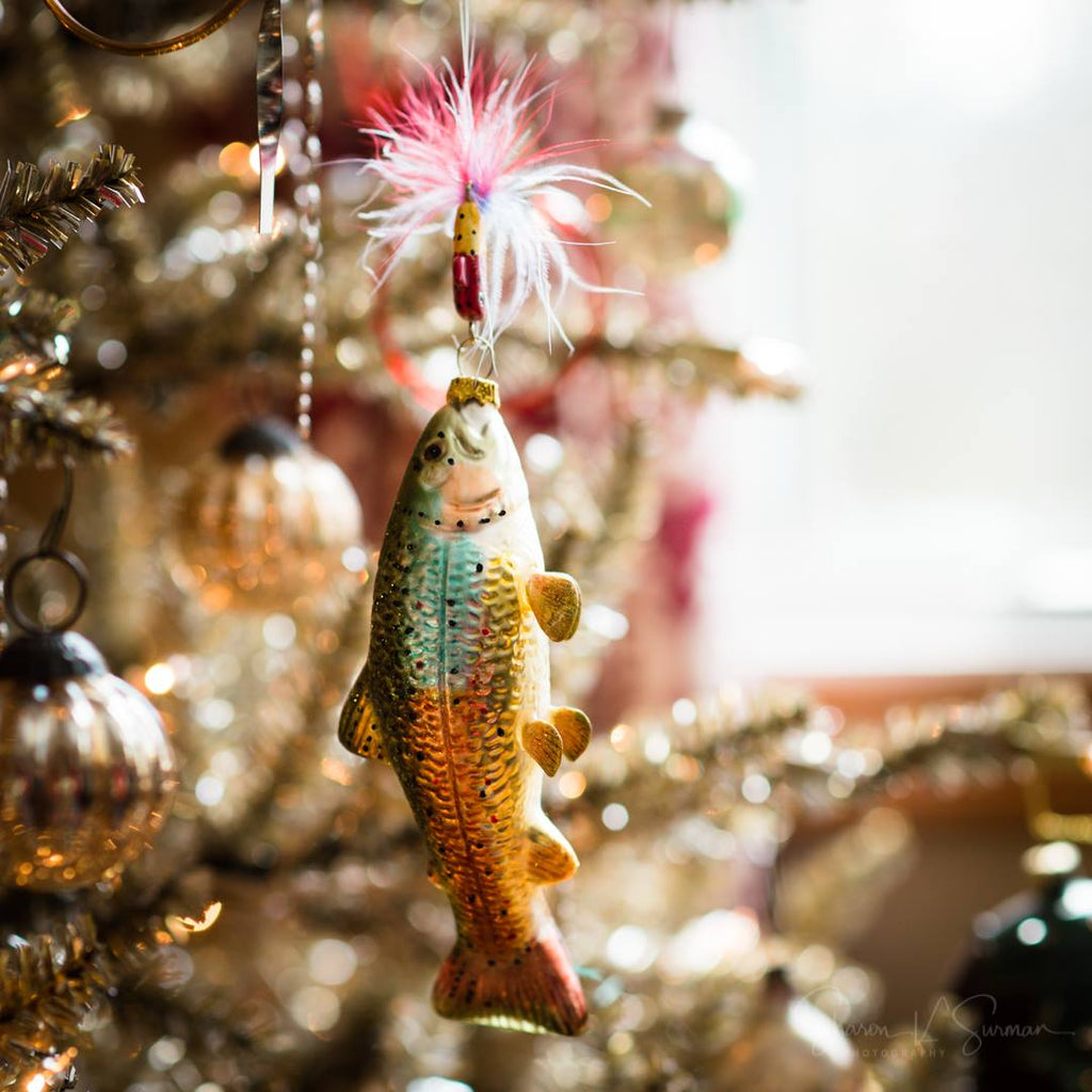 Photo of Fish Ornament on Christmas Tree