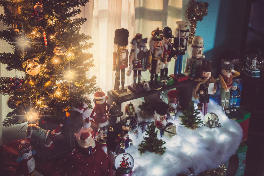 Photo of Christmas Tree and Nutcracker Family