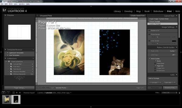 How to Make Diptychs in Lightroom