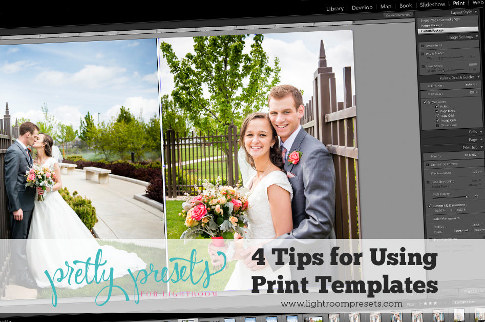 4 Tips for Using Lightroom Print Templates | Pretty Presets Lightroom Tutorial