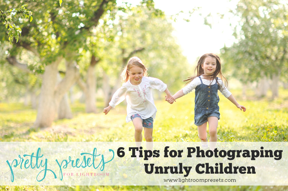 6 Tips for photographing difficult children