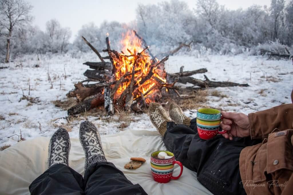 Best photos 2019 - sitting by the fire together