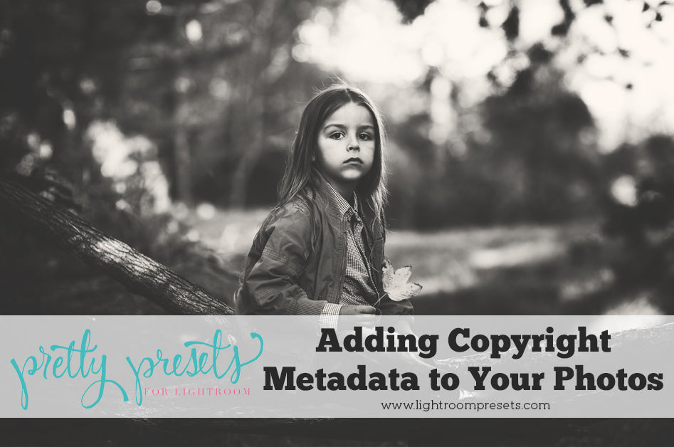 How to add copyright metadata to in Lightroom