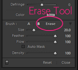 Lightroom Erase Tool
