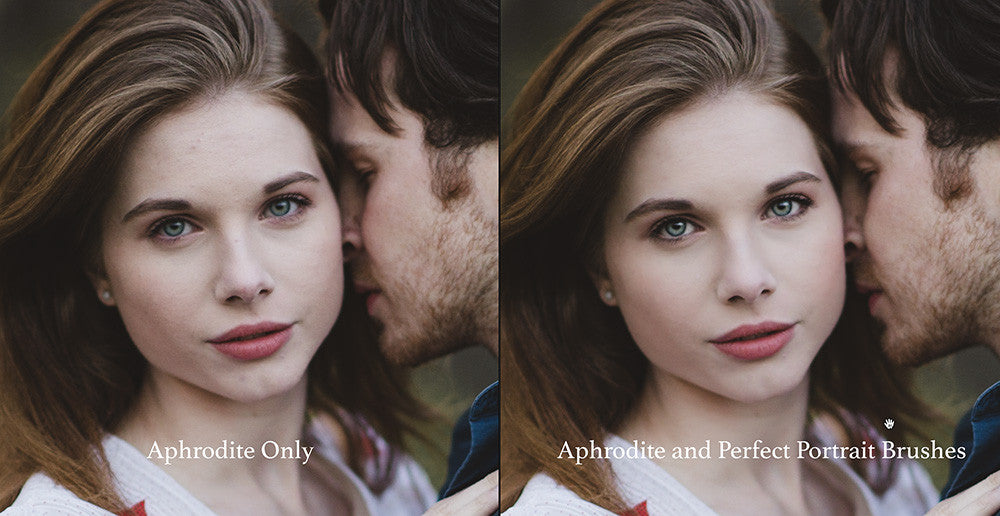 Image after Aphrodite preset and Perfect Portrait Brushes