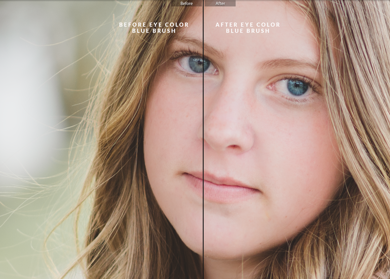 how to change eye color in lightroom