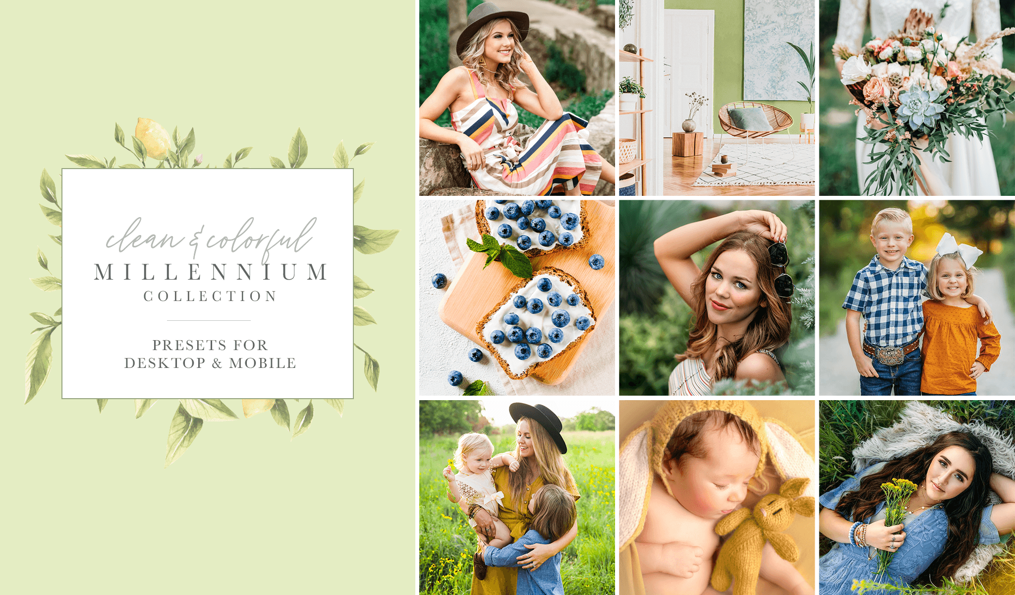 Editing with the Clean & Colorful Preset Collection