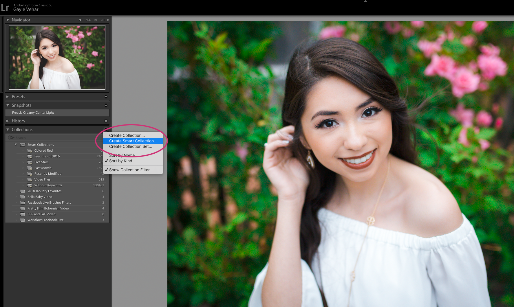 Create a Smart Collection in Lightroom