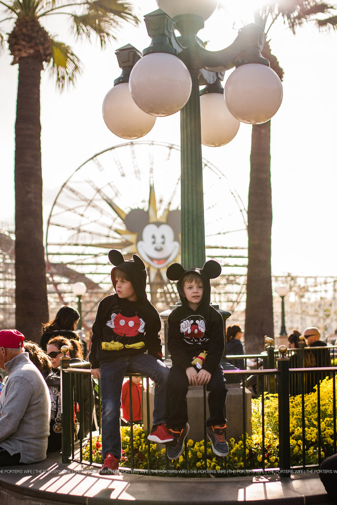 Disney World Photography - Boys in Mickey Mouse ears at Disney |