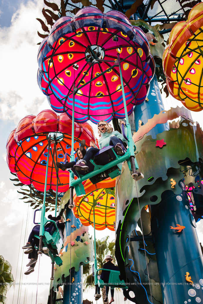 Disney Photography - photo of family on parachute ride