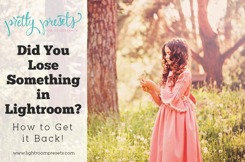 Did You Lose Something in Lightroom? (How to Get it Back