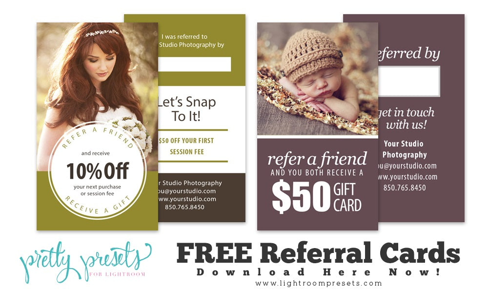 Free Photography Referral Cards