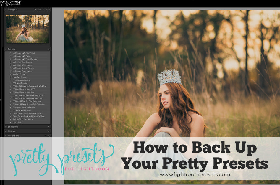 Backing Up Your Pretty Presets for Lightroom | Pretty Presets Lightroom Tutorial