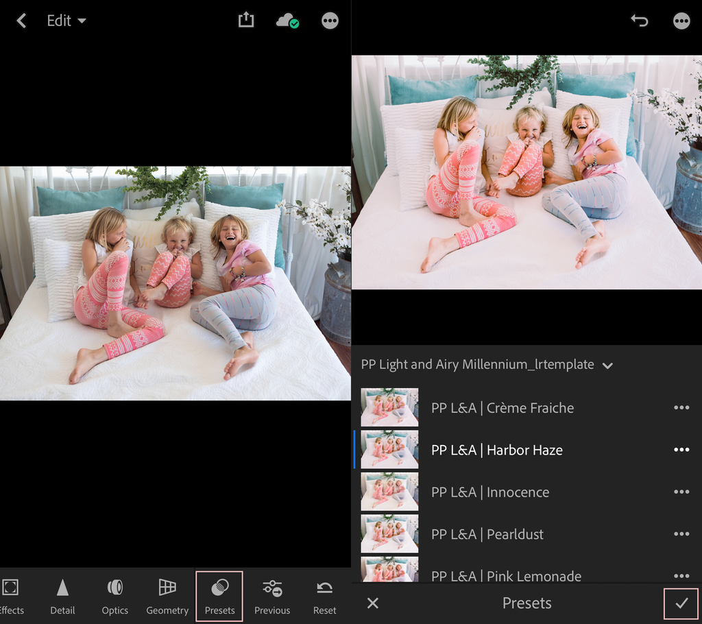 How to use presets in Lightroom CC Mobile