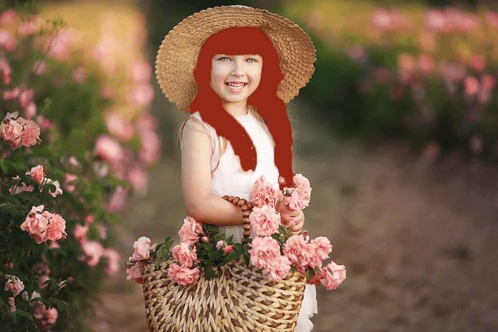 replace hair color in Photoshop