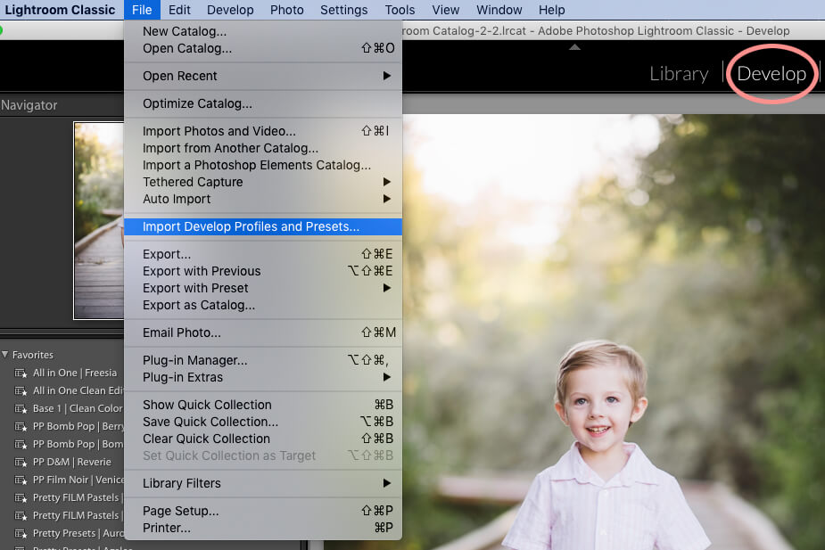 How to Install Lightroom Presets 1