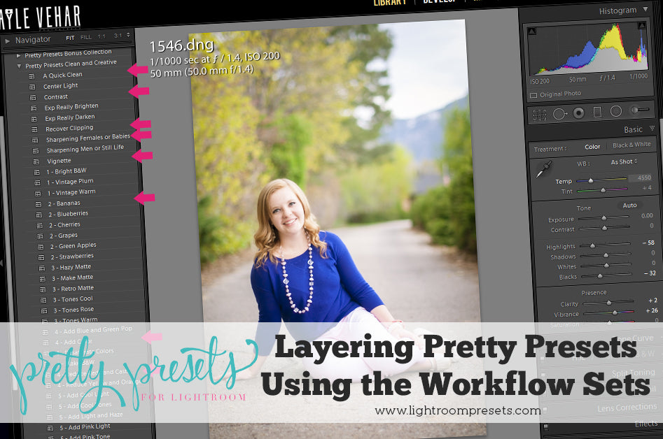 How to Layer Lightroom Presets | Pretty Presets Lightroom Tutorial