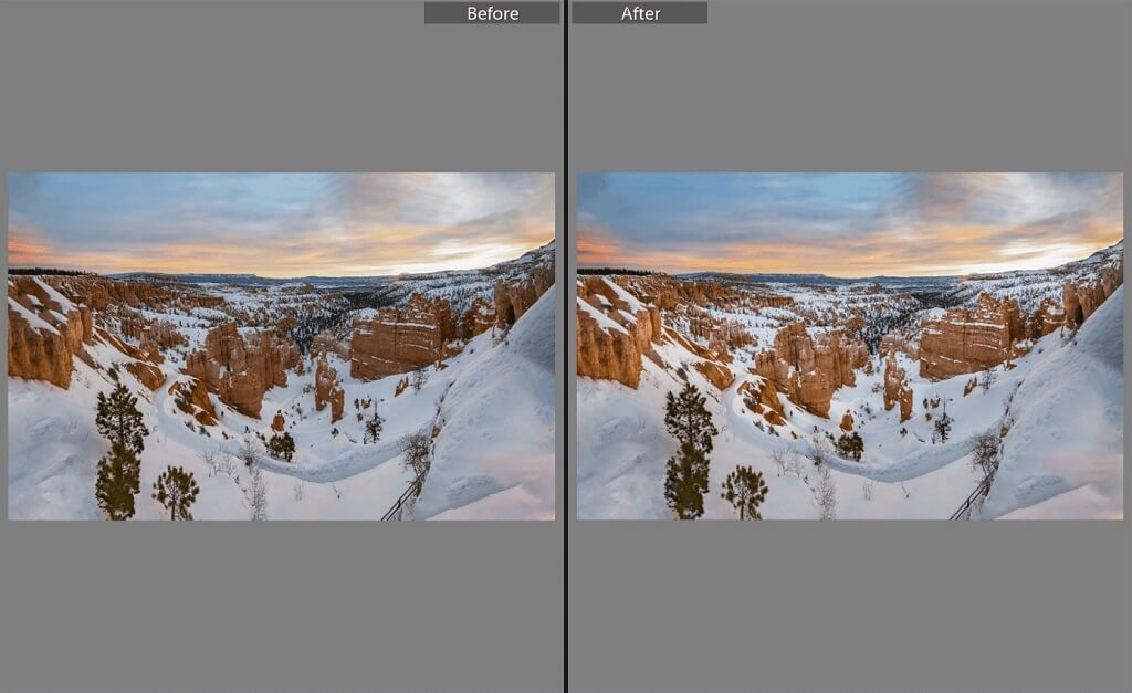 Editing Sunset Photo in Lightroom