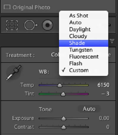 Lightroom White Balance Tool