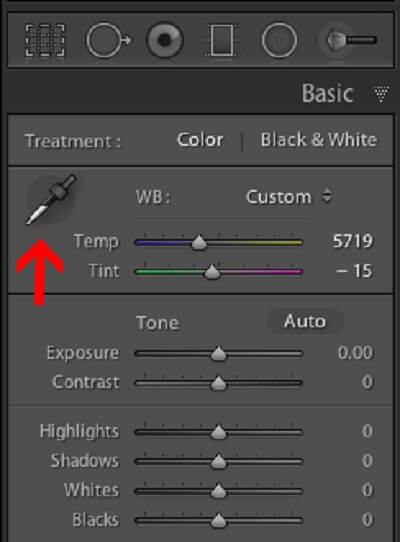 Using the Lightroom White Balance Picker