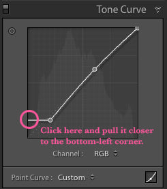 Adjusting the Matte and Haze Effect of Pretty Preset in Lightroom