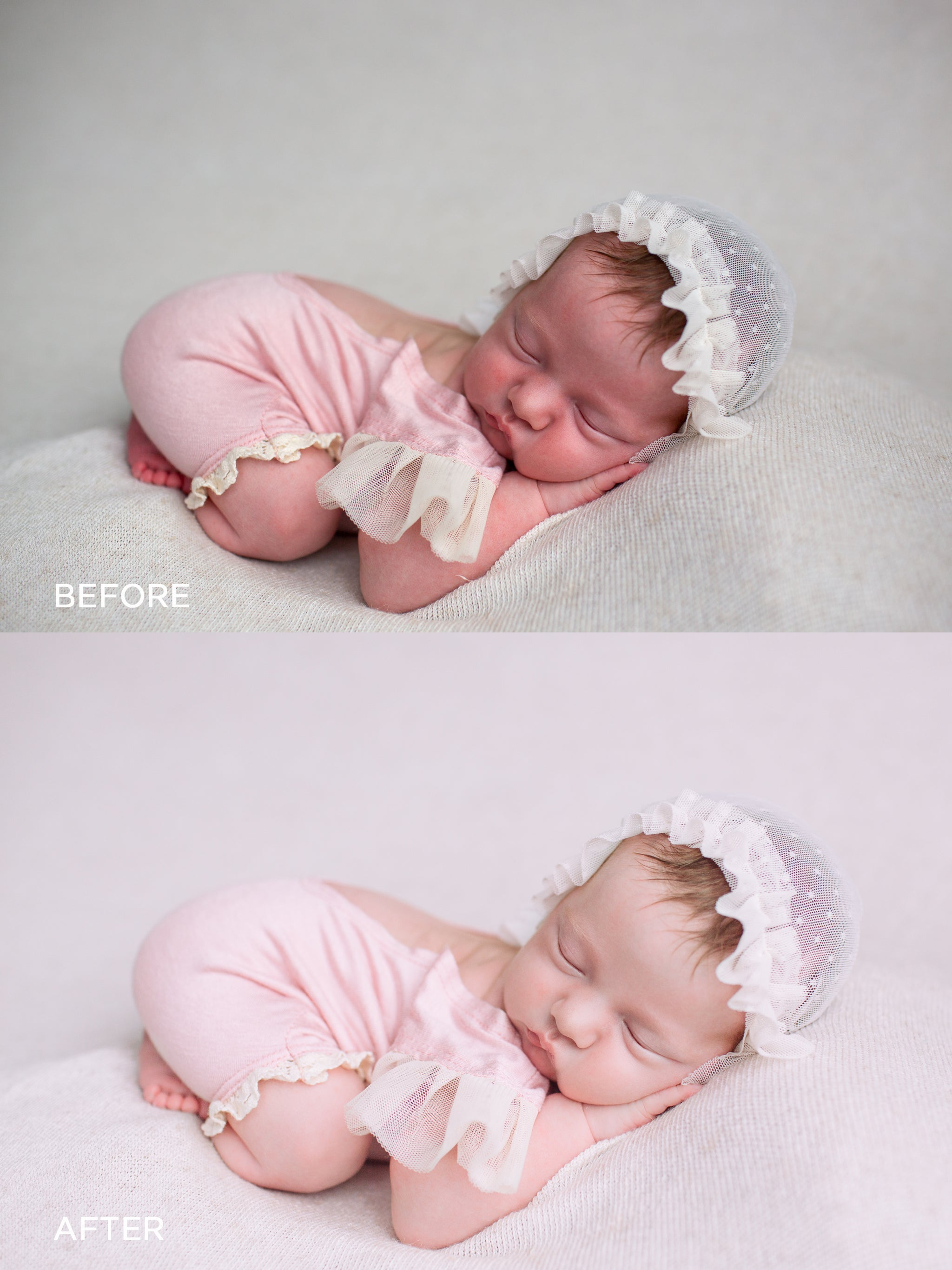 Editing newborns photos in lightroom