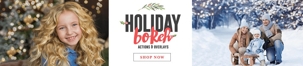 Holiday Bokeh Overlays