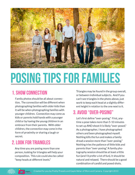 Free Posing Guide for Families