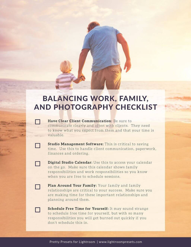 Balancing Work, Family, and Photography Free Checklist