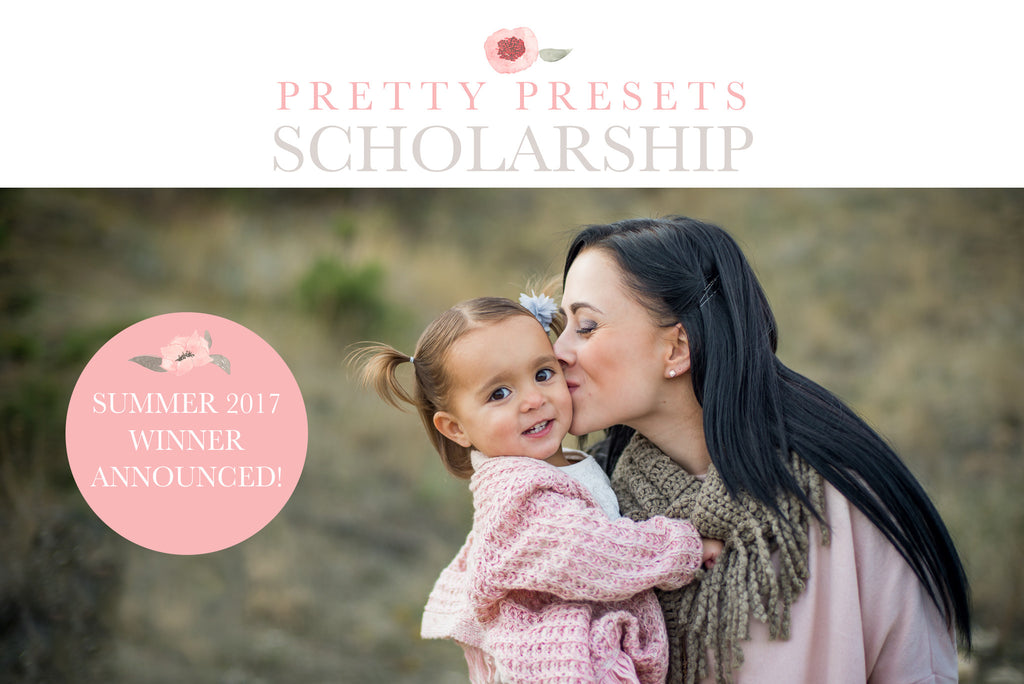 2017 Pretty Presets Scholarship Winner