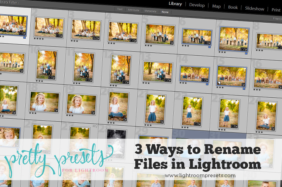 3 Ways to Rename Your Files in Lightroom | Pretty Presets Lightroom Tutorial