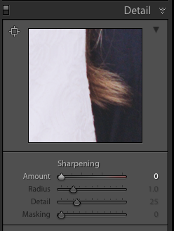 Sharpening in Lightroom