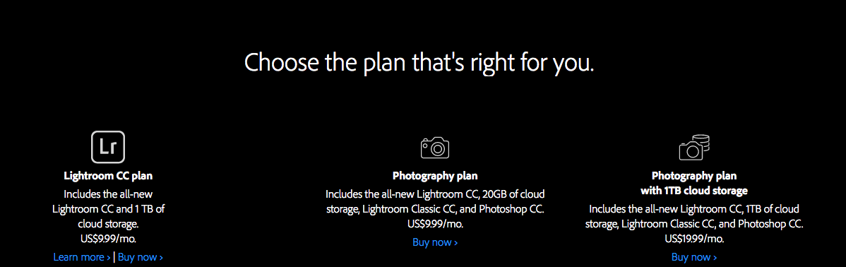 Adobe Photography Plans Lightroom Presets