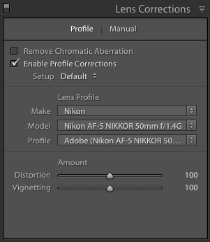 Adobe Lightroom Lens Profiles