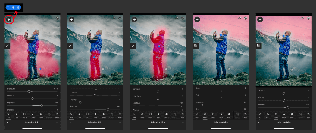 Selective Edits in Lightroom Mobile