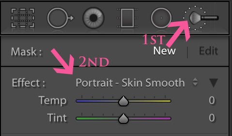 Smoothing Skin in Lightroom