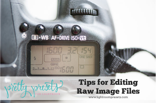 Tips for Editing Raw Image Files