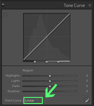 How to get a medium contrast curve in Lightroom