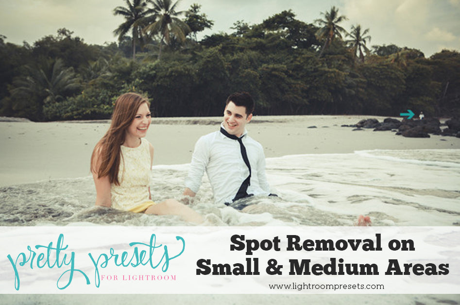How to fix small to medium areas in Lightroom with the spot removal tool