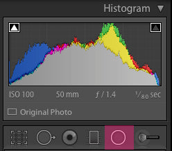 Where to find the radial filter in Adobe Lightroom