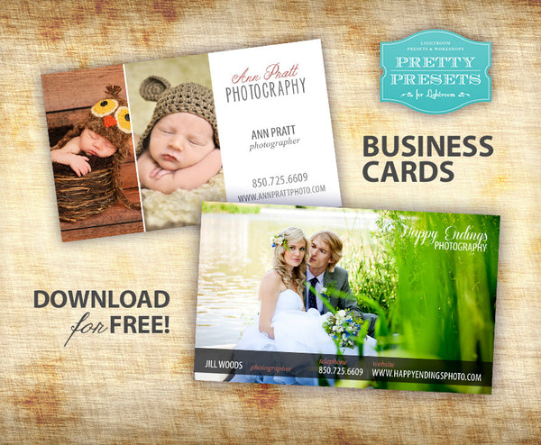 Free Business Card Download for Photographers
