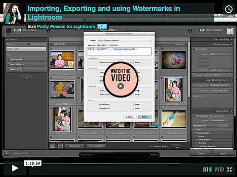 Importing, Exporting and Using Watermarks in Lightroom