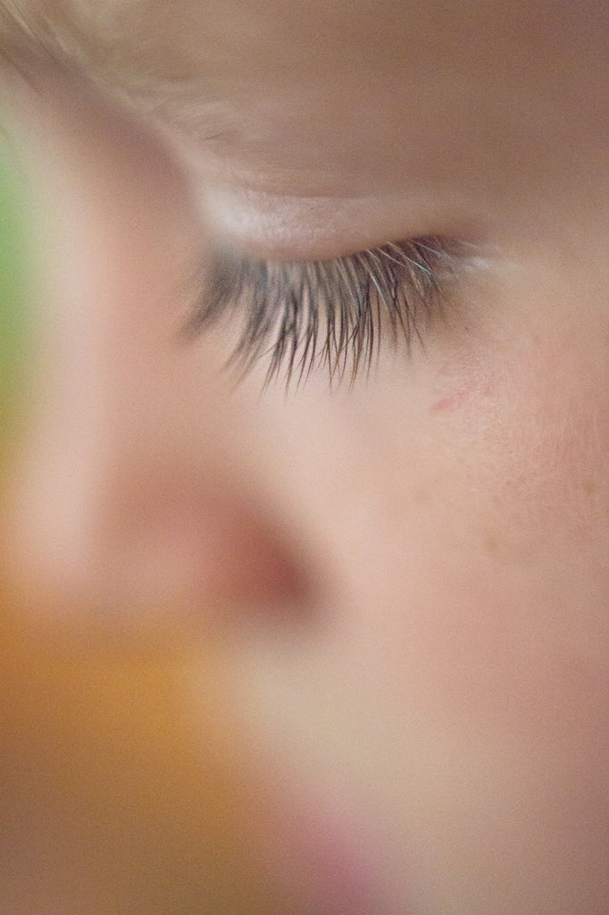 Freelensing Macro Photo of Boys Eyelashes