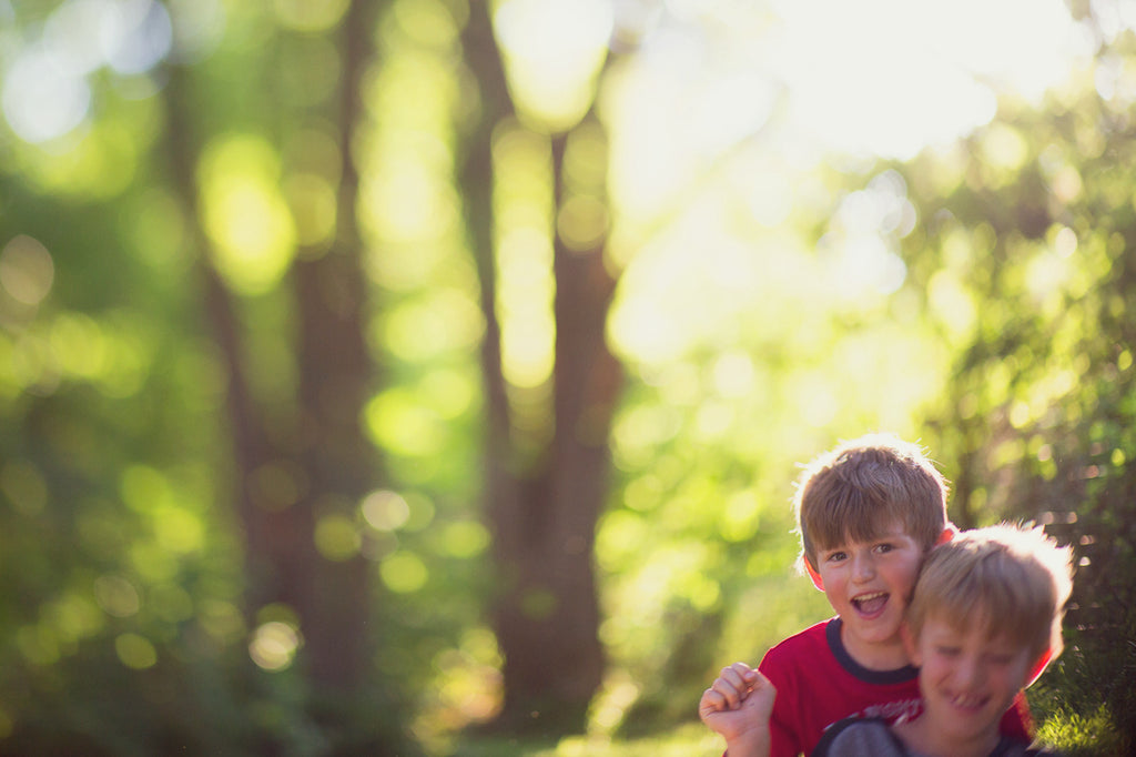 Freelensing photo of Brothers Playing Outside