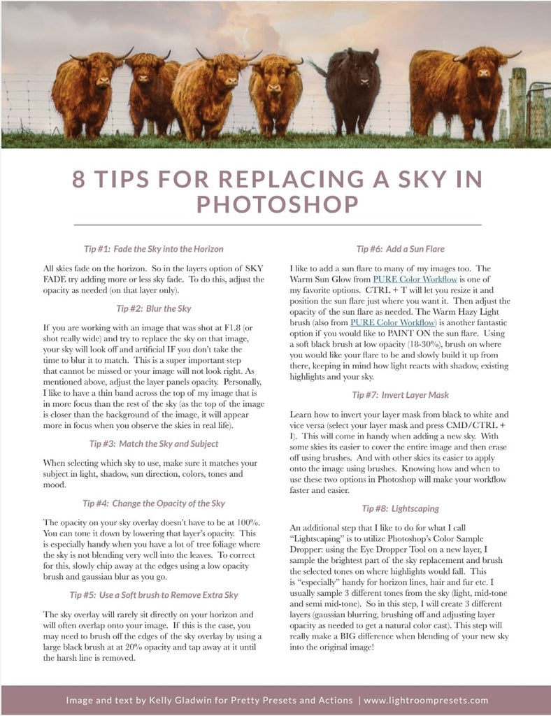 Sky Replacement Photoshop Tips