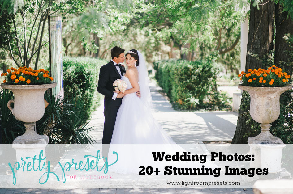 Wedding Photos Edited with Pretty Presets