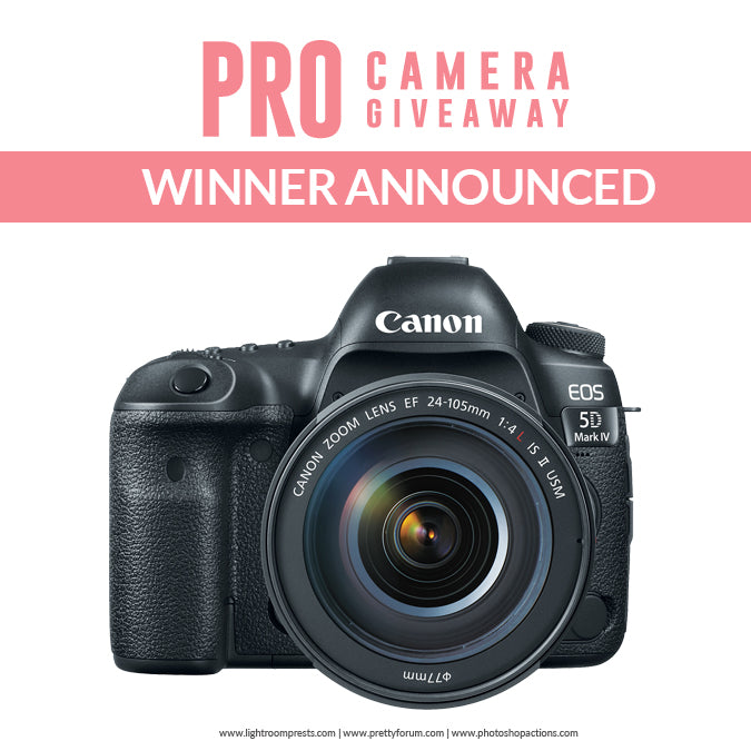 Pretty Presets for Lightroom PRO Camera Giveaway